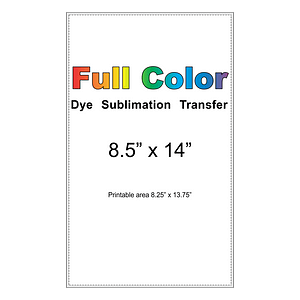 dye sublimation transfer 8.5x14